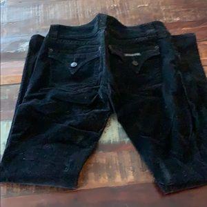 Black corduroy Hudson pants